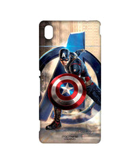 Avengers Captain America Age of Ultron Super Soldier Sublime Case for Sony Xperia M4 Aqua