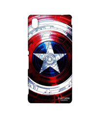 Avengers Captain America Assemble Captains Shield Decoded Sublime Case for Sony Xperia M4 Aqua
