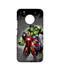 Avengers Ironman Hulk and Captain America Assemble Avengers Furious Trio Sublime Case for Moto G5 Plus