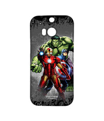 Avengers Ironman Hulk and Captain America Assemble Furious Trio Sublime Case for HTC One M8