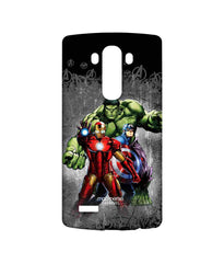 Avengers Ironman Hulk and Captain America Assemble Furious Trio Sublime Case for LG G4
