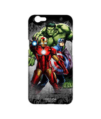 Avengers Ironman Hulk and Captain America Assemble Furious Trio Sublime Case for Oppo F1s