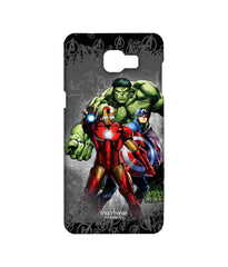 Avengers Ironman Hulk and Captain America Assemble Furious Trio Sublime Case for Samsung A9 Pro
