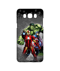 Avengers Ironman Hulk and Captain America Assemble Furious Trio Sublime Case for Samsung J7 (2016)
