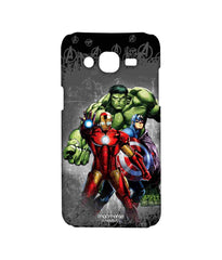 Avengers Ironman Hulk and Captain America Assemble Furious Trio Sublime Case for Samsung On7