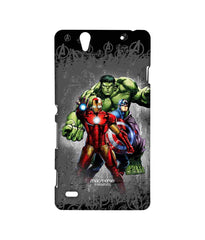 Avengers Ironman Hulk and Captain America Assemble Furious Trio Sublime Case for Sony Xperia C4