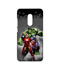 Avengers Ironman Hulk and Captain America Assemble Furious Trio Sublime Case for Xiaomi Redmi Note 4