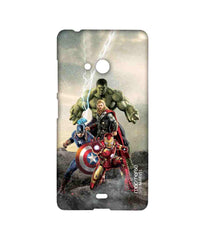 Avengers Ironman Hulk Captain America and Thor Age of Ultron Time to Avenge Sublime Case for Microsoft Lumia 540