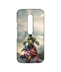 Avengers Ironman Hulk Captain America and Thor Age of Ultron Time to Avenge Sublime Case for Moto G Turbo