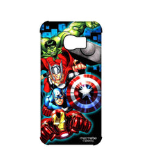 Avengers Ironman Hulk Captain America and Thor Assemble Avengers Fury Pro Case for Samsung S6 Edge