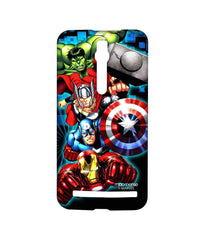 Avengers Ironman Hulk Captain America and Thor Assemble Avengers Fury Sublime Case for Asus Zenfone 2