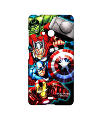 Avengers Ironman Hulk Captain America and Thor Assemble Avengers Fury Sublime Case for Microsoft Lumia 540