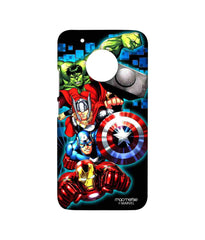 Avengers Ironman Hulk Captain America and Thor Assemble Avengers Fury Sublime Case for Moto G5 Plus