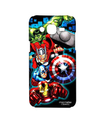 Avengers Ironman Hulk Captain America and Thor Assemble Avengers Fury Sublime Case for Samsung On7 Pro