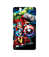 Avengers Ironman Hulk Captain America and Thor Assemble Avengers Fury Sublime Case for Sony Xperia C4