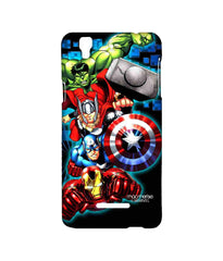 Avengers Ironman Hulk Captain America and Thor Assemble Avengers Fury Sublime Case for YU Yureka Plus