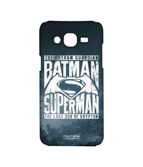 Batman Dawn of Justice Batman Gotham vs. Krypton Blue Sublime Case for Samsung J5