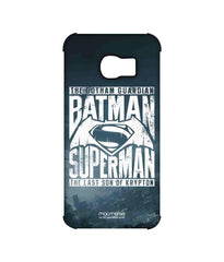 Batman Dawn of Justice Batman Superman Gotham vs. Krypton Blue Pro Case for Samsung S6 Edge