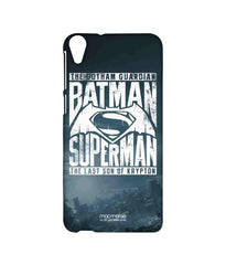 Batman Dawn of Justice Batman Superman Gotham vs. Krypton Blue Sublime Case for HTC Desire 820
