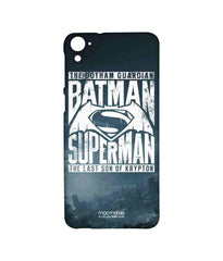 Batman Dawn of Justice Batman Superman Gotham vs. Krypton Blue Sublime Case for HTC Desire 826