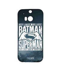 Batman Dawn of Justice Batman Superman Gotham vs. Krypton Blue Sublime Case for HTC One M8