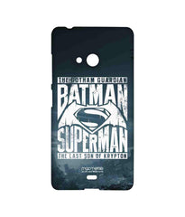 Batman Dawn of Justice Batman Superman Gotham vs. Krypton Blue Sublime Case for Microsoft Lumia 540