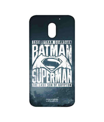 Batman Dawn of Justice Batman Superman Gotham vs. Krypton Blue Sublime Case for Moto E3 Power