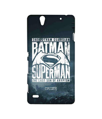 Batman Dawn of Justice Batman Superman Gotham vs. Krypton Blue Sublime Case for Sony Xperia C4