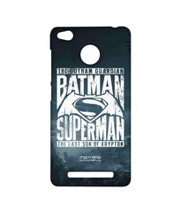 Batman Dawn of Justice Batman Superman Gotham vs. Krypton Blue Sublime Case for Xiaomi Redmi 3S Prime