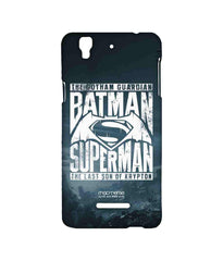 Batman Dawn of Justice Batman Superman Gotham vs. Krypton Blue Sublime Case for YU Yureka Plus
