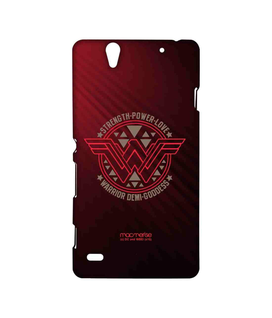 Batman Dawn of Justice Wonder Woman Stamp Sublime Case for Sony Xperia C4