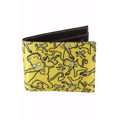 Bart The Devil Satin Wallet for Men and Women - Multicolor