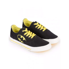 Batman Faded Logo Unisex Canvas Shoes - Black and Yellow