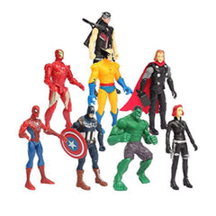 Avengers Amazing 8 in 1 Super Power Heroes Action Figures - Multi Color