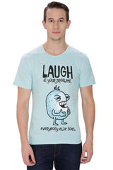Kritzels Laugh at your Problems, everyBody else does. Light Blue T-Shirt for Men