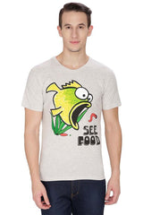 Kritzels See Food Off White T-Shirt for Men