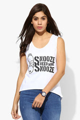 Simpsons Snooze Need More Snooze White Tank for Women