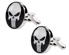Punisher Cufflinks - Punisher Skull Logo Cufflinks