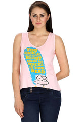 Simpsons You Should Listen to Your Heart Pink Tank for Women