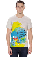 Kritzels WTF Where's The Food? Off White T-Shirt for Men