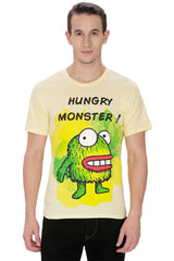 Kritzels Hungry Monster! Yellow T-Shirt for Men