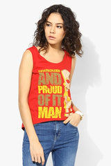 Simpsons Underachiever And Proud of It Man Red Tank for Women