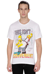 Simpsons This Isn't Very Convenient White T-Shirt for Men