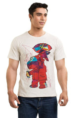 Family Guy Stewie & Brian Technicoloured White T-Shirt for Men