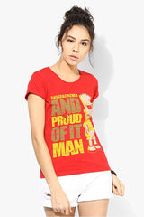 Simpsons Underachiever And Proud of It Man Red T-Shirt for Women