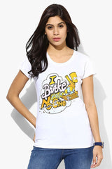 Simpsons I Brake for No One White T-Shirt for Women