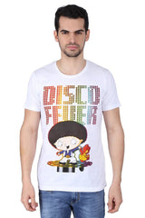 Family Guy Stewie Disco Fever White T-Shirt for Men