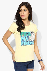Family Guy Stewie & Peter Pull My Finger Yellow T-Shirt for Women