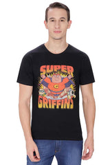 Family Guy Peter, Stewie & Brian Super Griffins Black T-Shirt for Men