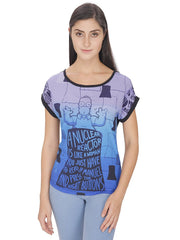 Simpsons A Nuclear Reactor Blue T-Shirt for Women